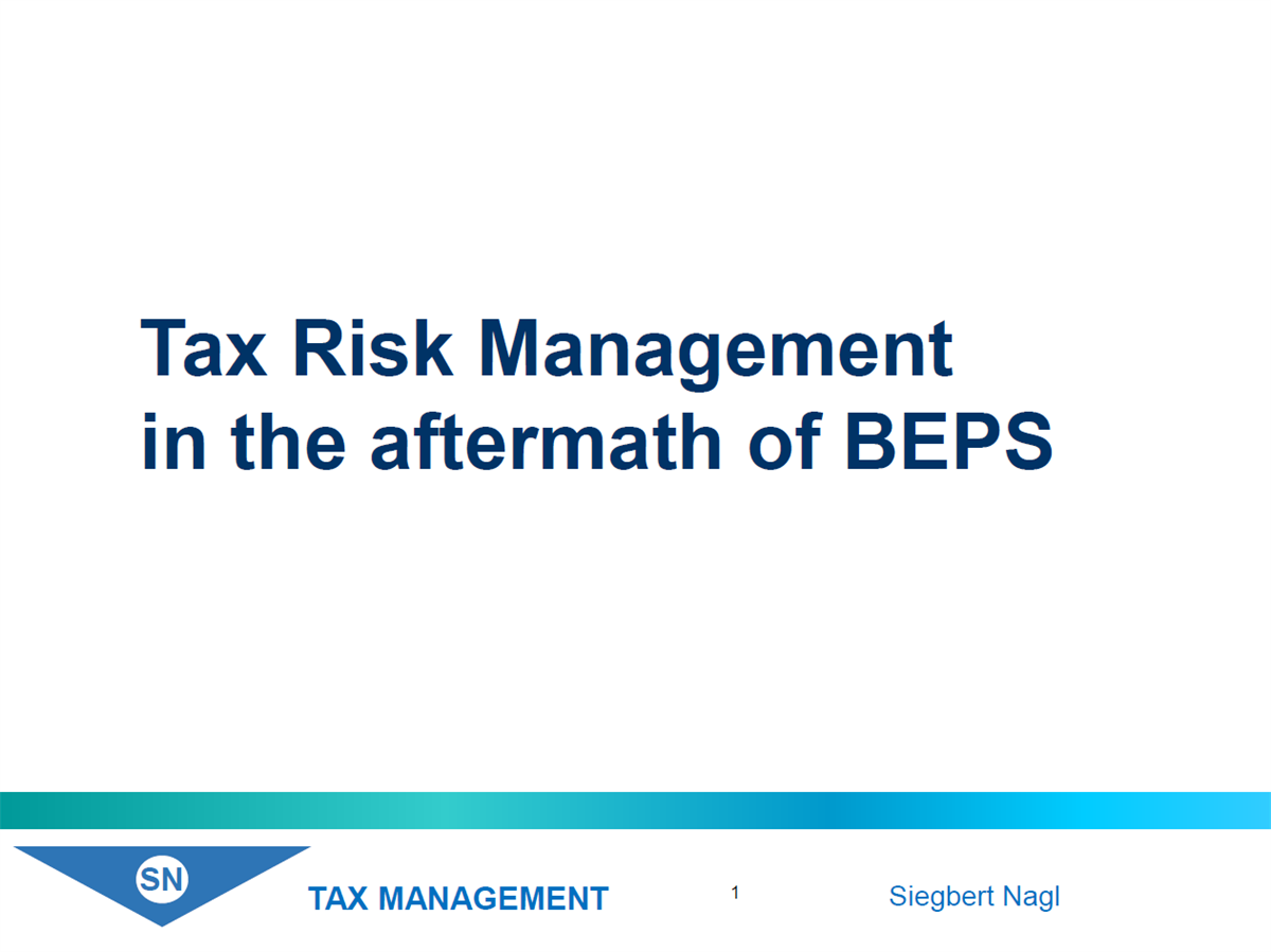 Tax-Risk-Management